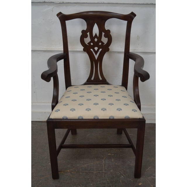 Henkel Harris Solid Mahogany Chippendale Style Dining Chairs - Set of 6 - Image 6 of 10