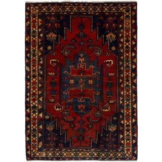 "Hamadan Persian Rug, 4'7"" x 6'6"" feet"