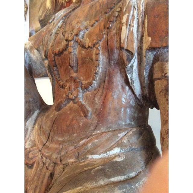 Carved Wood Bodhisattva For Sale - Image 5 of 10