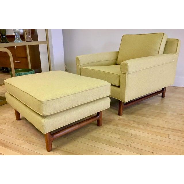 Fiber 1960s Vintage Teak Lounge Chair & Ottoman For Sale - Image 7 of 7