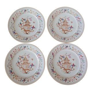 1990s Tiffany Audubon Salad Dessert Plates - Set of 4 For Sale