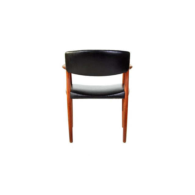 Animal Skin Armchair in Teak and Black Leather by Ejnar Larsen and Aksel Bender Madsen For Sale - Image 7 of 9