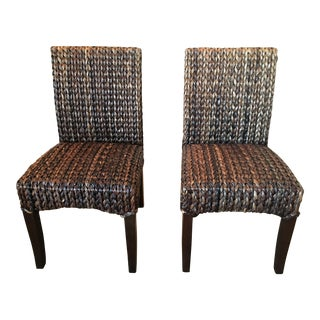 Pottery Barn Seagrass Dining Chairs - A Pair
