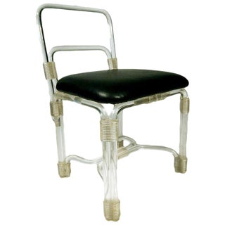 Elegant 1940s Lucite Side Chairs by Grosfeld House For Sale