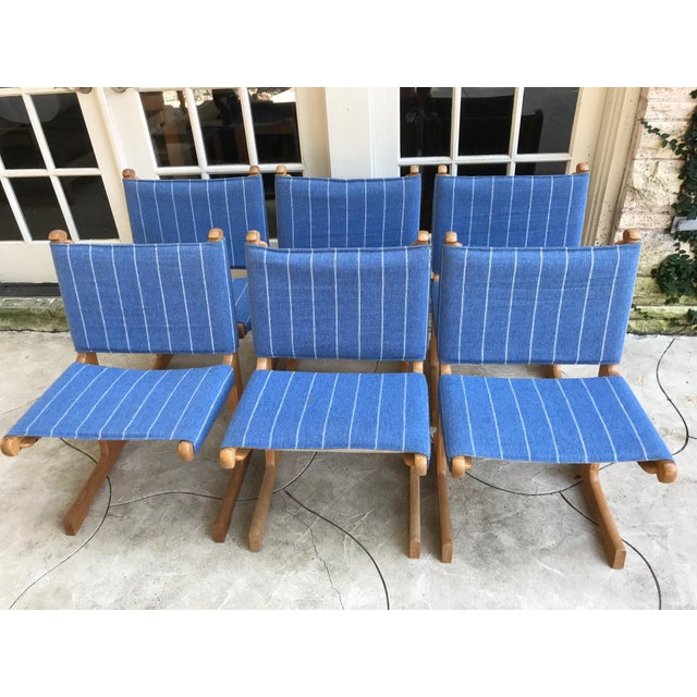 Vintage mid century modern set of 6 cantilevered chairs made by Ditte & Adrian Heath for France & Son in Denmark. Chairs...