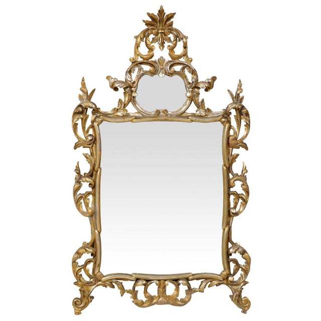 Early 20th Century Italian Gold and Silver Gilt Mirror For Sale - Image 11 of 11