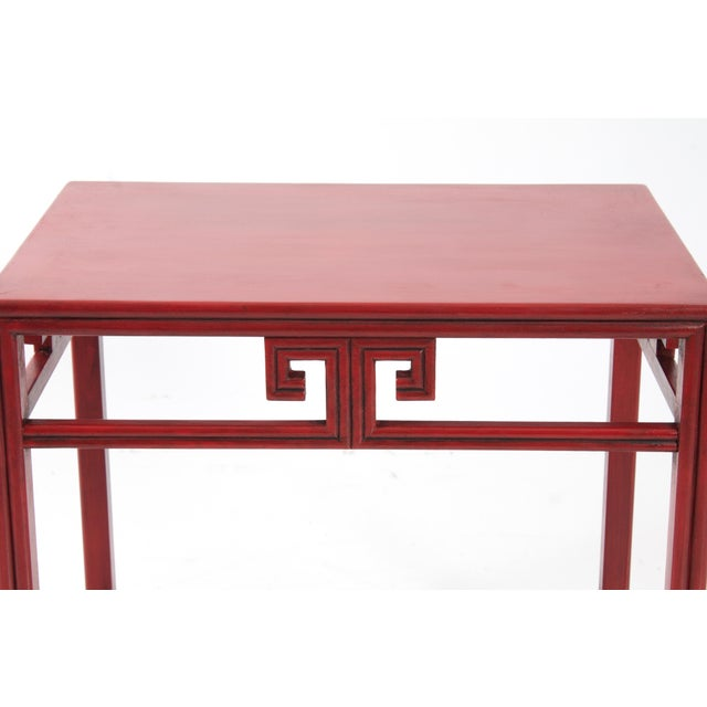 Pair of Michael Taylor for Baker Far East Red Side Tables For Sale In New York - Image 6 of 9