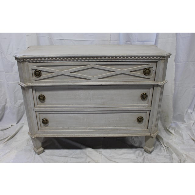 Mid-Century Modern 20th Century Gustavian Gray Oak Dresser For Sale - Image 3 of 6