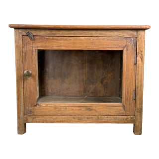 Late 19th Century Primitive Wood & Glass Display Box For Sale