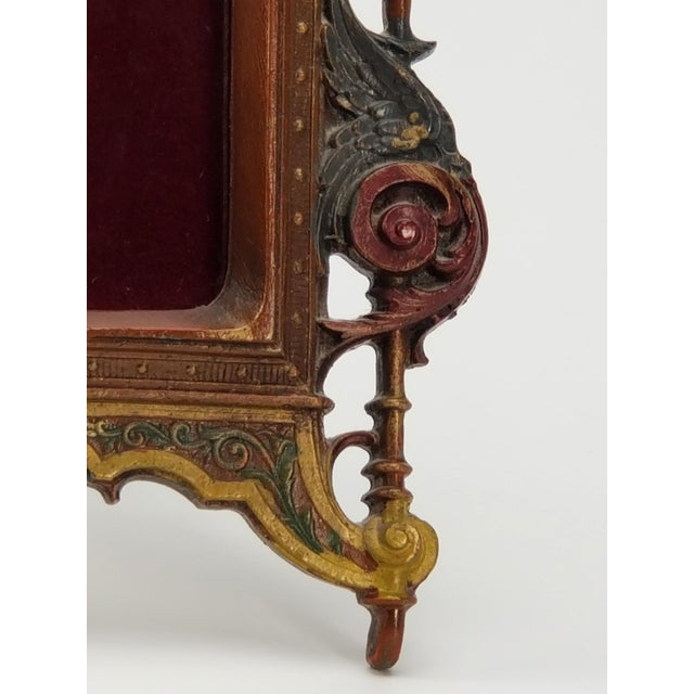 Metal Antique Cast Iron Photo Frame - Italianate Renaissance/Victorian/Style For Sale - Image 7 of 10