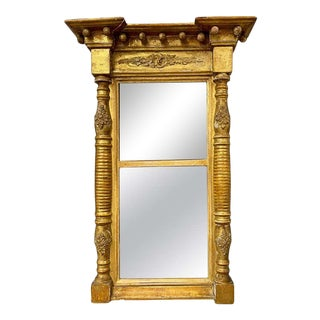 19th Century Empire Style Wall or Table Mirror For Sale