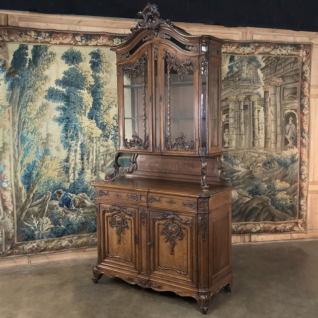 19th Century Liegeois China Buffet is a superlative example of the fine artistry that has been a trademark of the region...