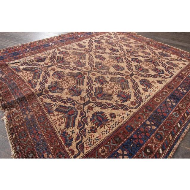 "Islamic Apadana Blue Afshar - 4'1"" X 4'8"" For Sale - Image 3 of 7"