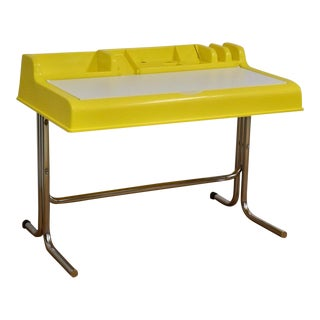 """Molded Plastic and Chrome """"Oryx"""" Desk For Sale"""