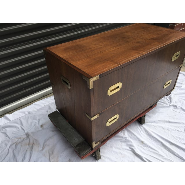 Baker Furniture Low Campaign Chest For Sale - Image 10 of 12