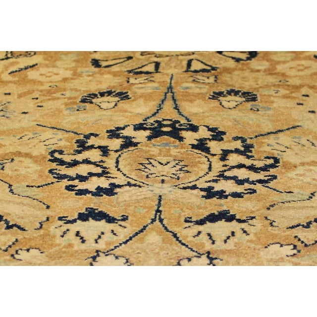 Pak Persian Ping Lt. Brown/Lt. Blue Hand-Knotted Rug -8'10 X 12'2 For Sale - Image 4 of 8
