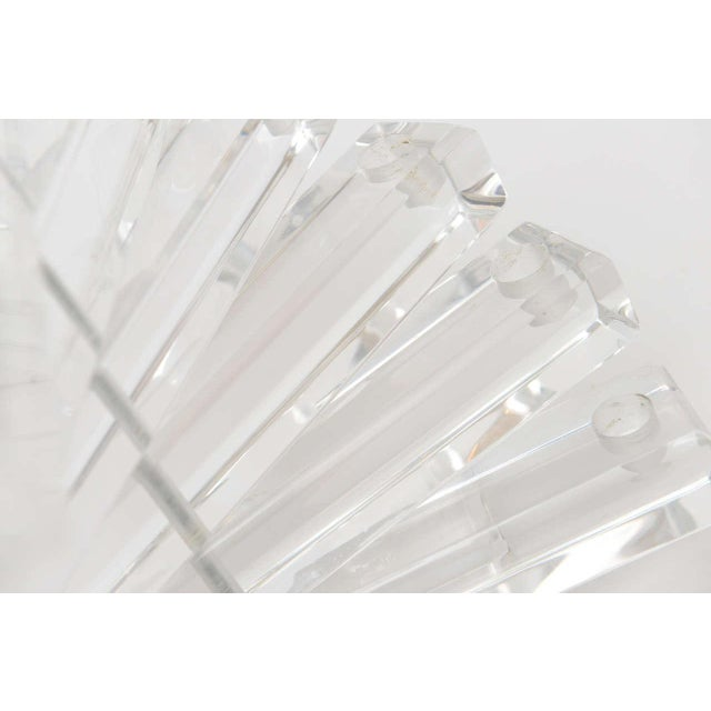 """Lucite """" Spiral Staircase"""" Sculptural 12 Light Candelabra For Sale - Image 10 of 11"""