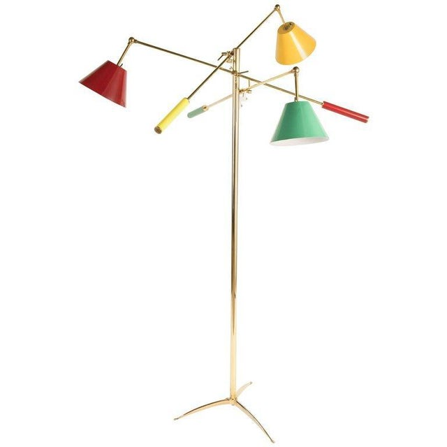 Triennale Floor Lamp Attributed to Gino Sarfatti For Sale - Image 9 of 9