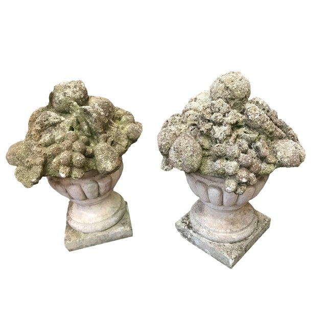 19th Century French Cement Fruit Finials - a Pair For Sale - Image 4 of 4