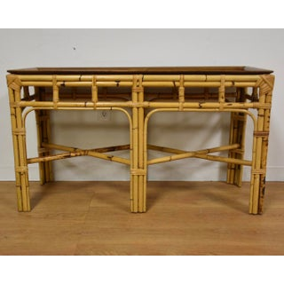 Italian Burl & Bamboo Console Table Preview