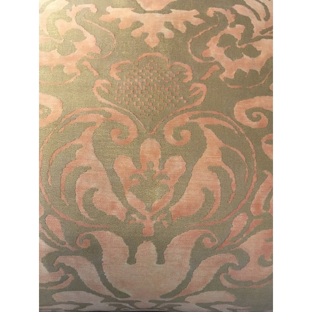 The Sevigne is a 17th century French design named for Madame de Sevigne. Printed at the Fortuny factory in Venice. The...