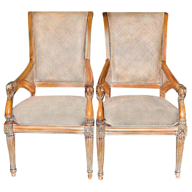 A Pair of Thomasville Louis XVI Inspired Side Chairs For Sale