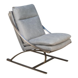 MC Queen Chair in Light Grey Poly For Sale