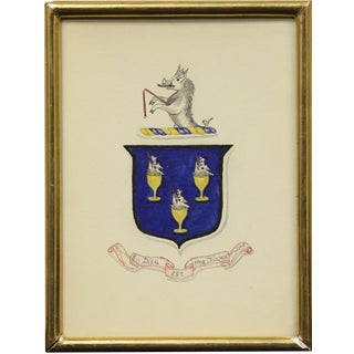 """""""Rearing Griffin Coat of Arms"""" Artwork For Sale"""