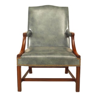 English Georgian Mahogany Arm Chair For Sale