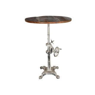 Industrial Tallis End Table With Wooden Top For Sale