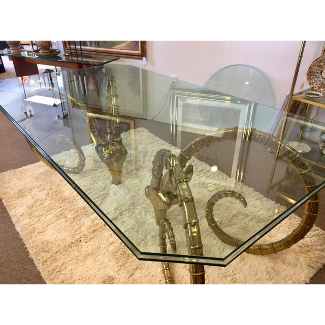 Brass Solid Brass Vintage Ibex Dining Table For Sale - Image 7 of 14