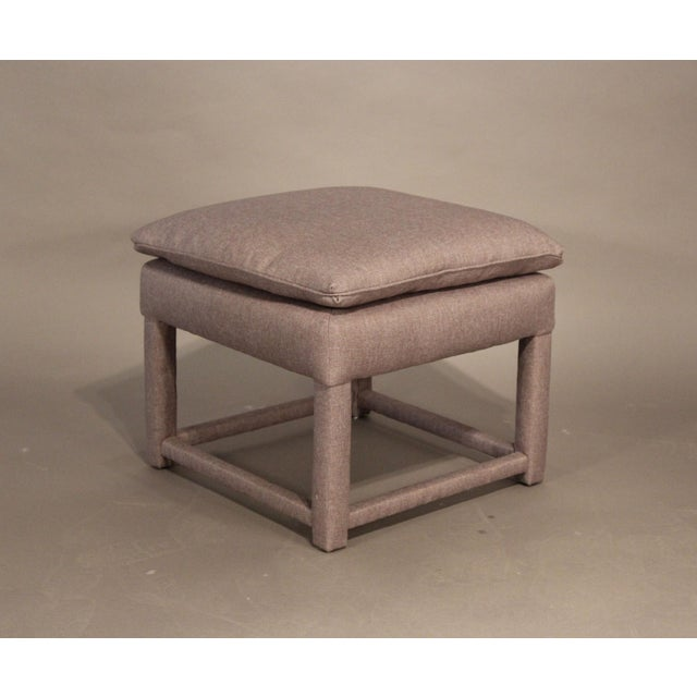 Upholstered Parsons Style Ottomans - Pair - Image 4 of 6
