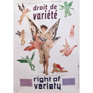1989 Original Poster for Artis 89's Images Internationales Pour Les Droits De l'Homme Et Du Citoyen - Right of Variety For Sale