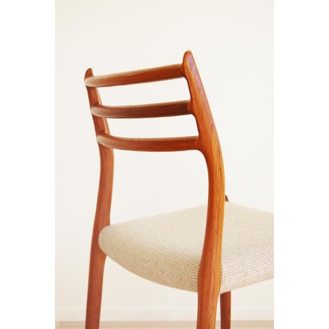 Fabric J L Moller Danish Modern Model 78 Teak Dining Chair - Set of 4 For Sale - Image 7 of 13