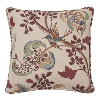 Schumacher Fox Hollow Pillow in Document Natural For Sale