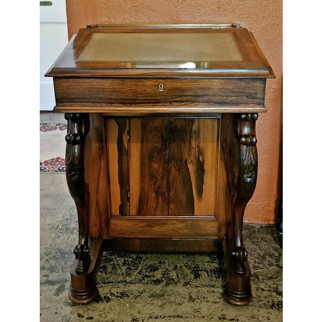 Early 19c British Davenport Desk in the Manner of Gillows For Sale - Image 10 of 13