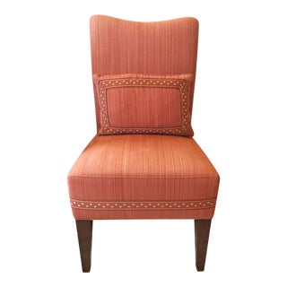 Modern Striae Cotton Side Chair For Sale
