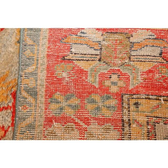 Antique Turkish Arts & Crafts Oushak Rug - 8′4″ × 17′3″ For Sale - Image 9 of 11