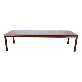 John Widdicomb Mid-Century Modern Walnut Extension Dining Table, Newly Restored For Sale