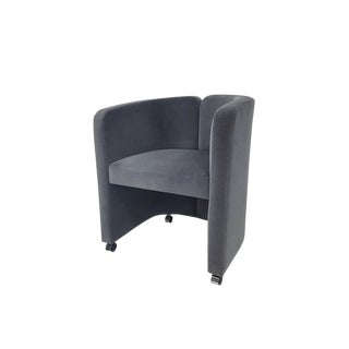 Michael Dawkins Ines Gray Velvet Chair For Sale