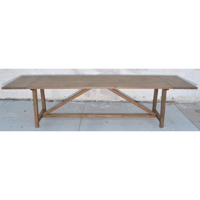 Ken Petersen Rustic Extendable Dining Table in Vintage Oak For Sale - Image 4 of 11