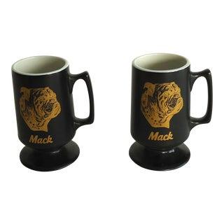 Mack Bulldog Mugs - a Pair