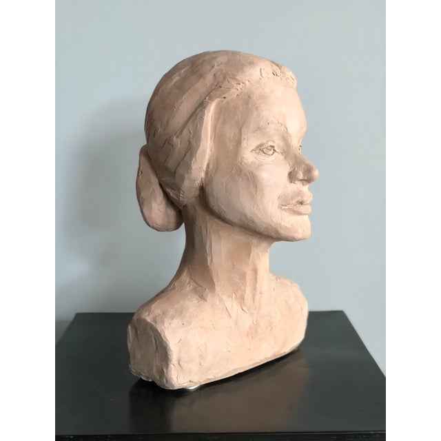 Mid-Century Modern Mid Century Clay Bust For Sale - Image 3 of 7
