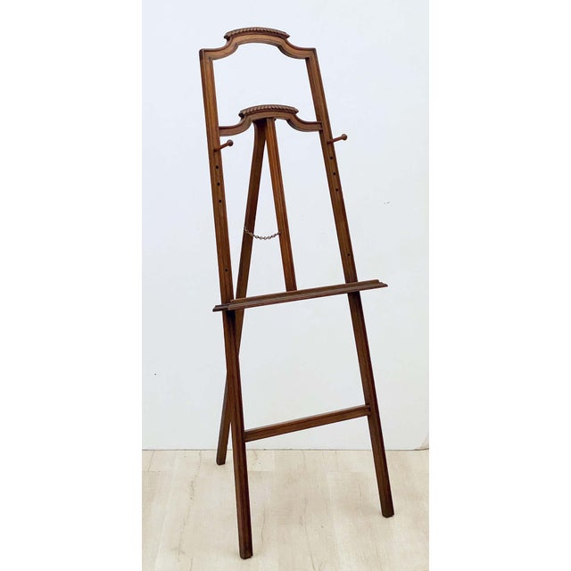 English Artist's or Display Easel With Carved Wood Accents For Sale - Image 4 of 13
