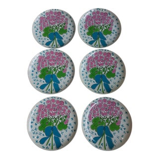 1970's Gloria Vanderbilt for Sigma Tastesetters Dinner Plates - Set of 6 For Sale