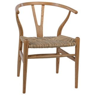 Zola Chair With Rush Seat, Natural For Sale