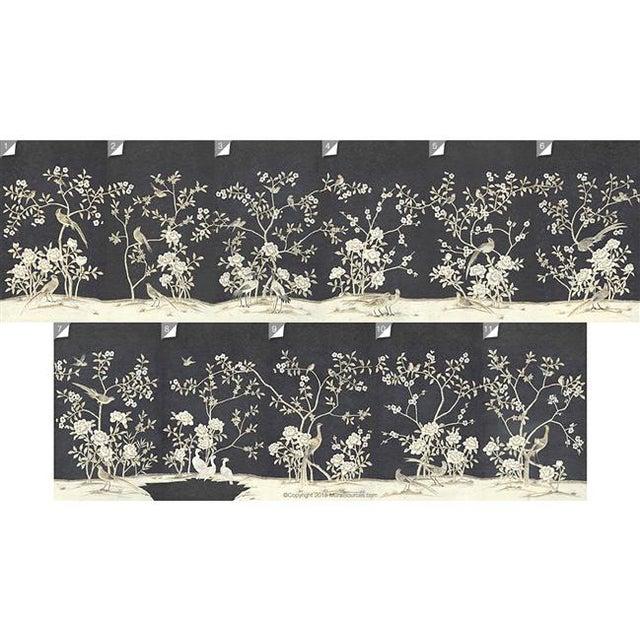 Casa Cosima Casa Cosima Henri Charcoal Wallpaper Mural - Sample For Sale - Image 4 of 5