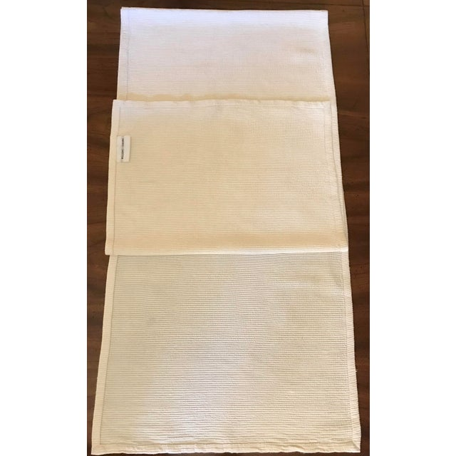 Williams-Sonoma Antique Williams Sonoma Off-White Silk Dupioni Eight Placemats & Table Runner - 9 Pc. Set For Sale - Image 4 of 11