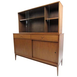 Vintage Paul McCobb Planner Group Sideboard and China Cabinet For Sale