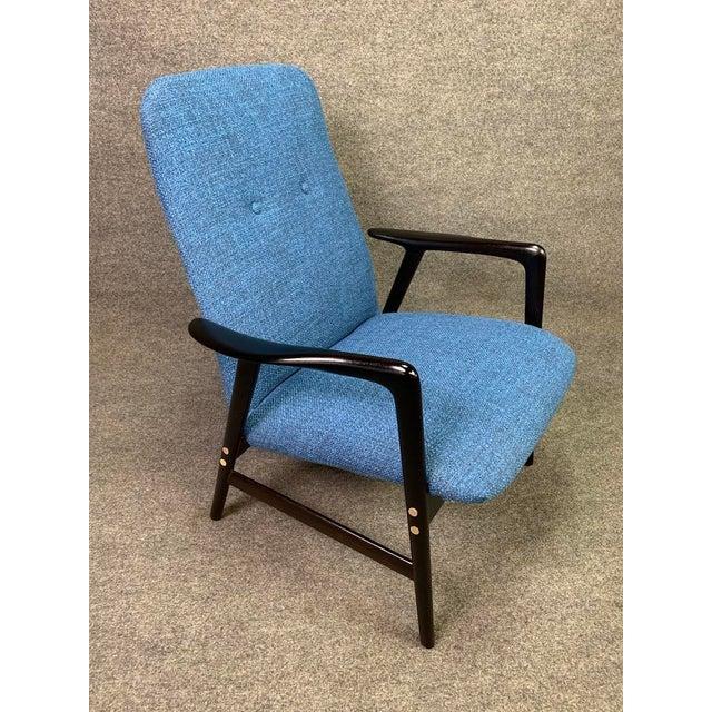 Mid Century Vintage Alf Svensson for Dux Scandinavian Lounge Chair For Sale - Image 10 of 11